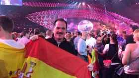 El eurodiputado Carlos Iturgaiz en el festival de Eurovisión de Viena, 2015.