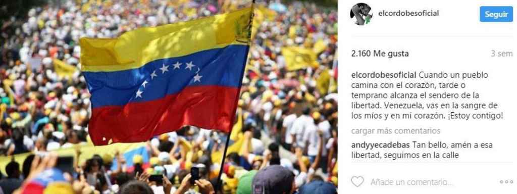 El mensaje por Venezuela de Manuel Díaz.