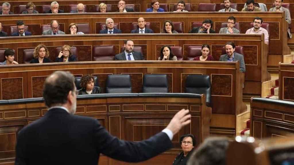Rajoy, en la sesión de control este miércoles.
