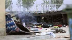 Destrozos provocados por la explosión