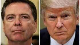 El hasta ahora director del FBI, James Comey, y el presidente de EEUU, Donald Trump.