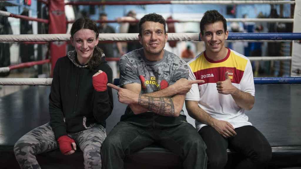 A la izquierda, Eloísa Rodríguez, Pablo Navascués y Ricardo Hernández.