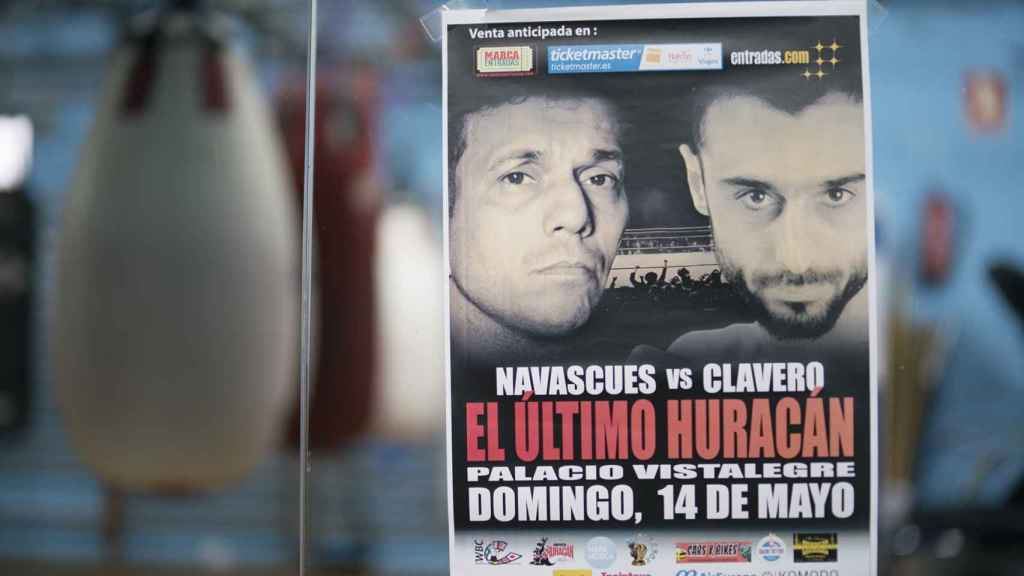 Cartel de la pelea entre Navascués y Clavero.