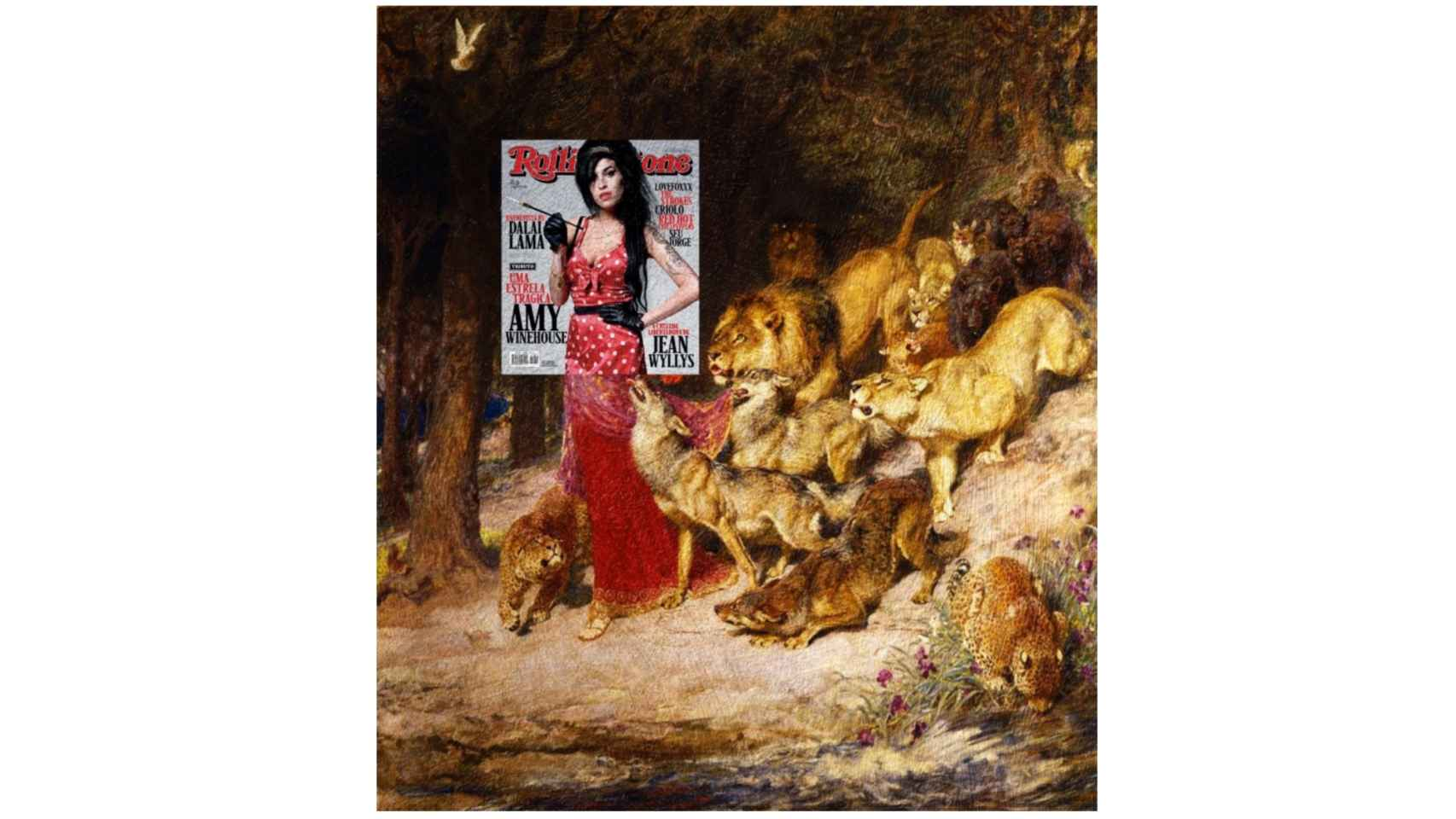 "Amy Winehouse en ""Afrodita"" de Briton Rivière (1902)."