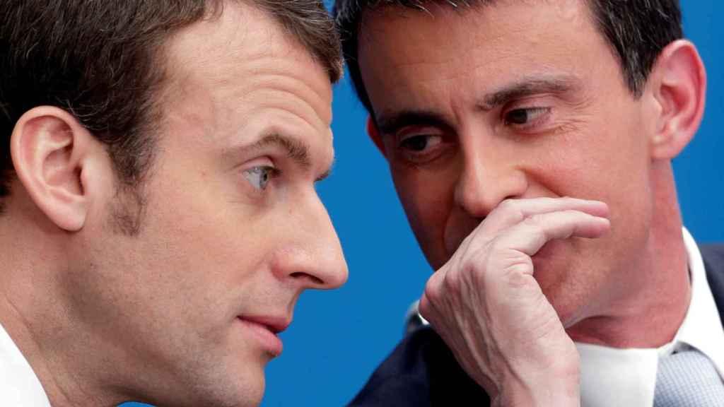 Macron y Valls en una imagen de archivo