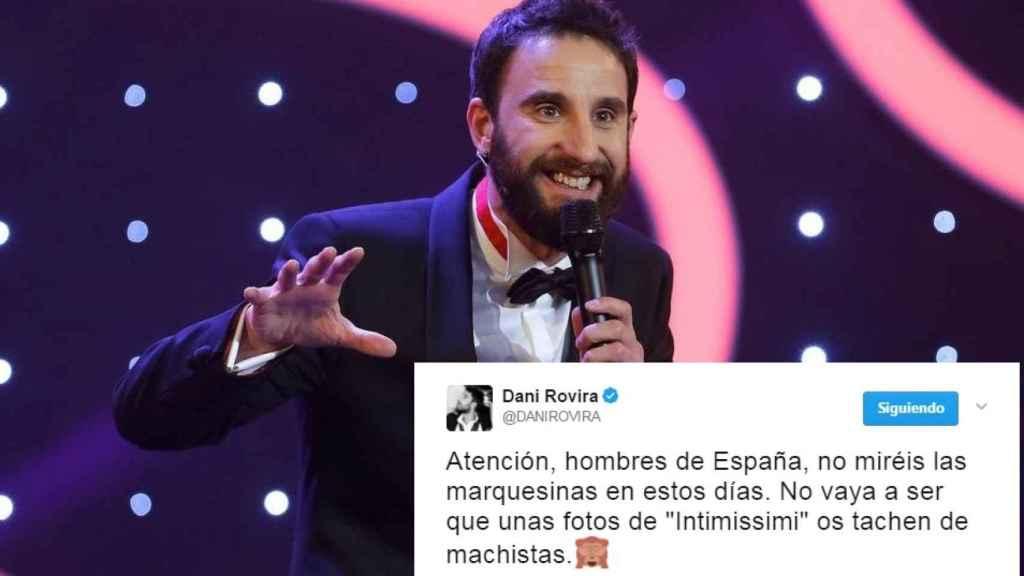 El humorista Dani Rovira durante la gala de los Goya.