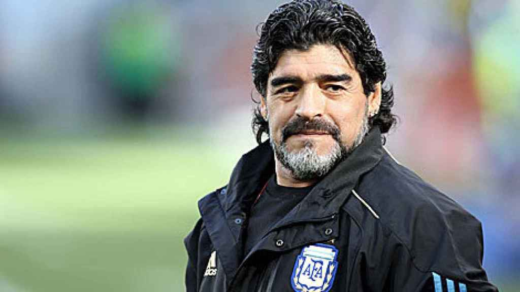 Diego Armando Maradona como seleccionador de Argentina.