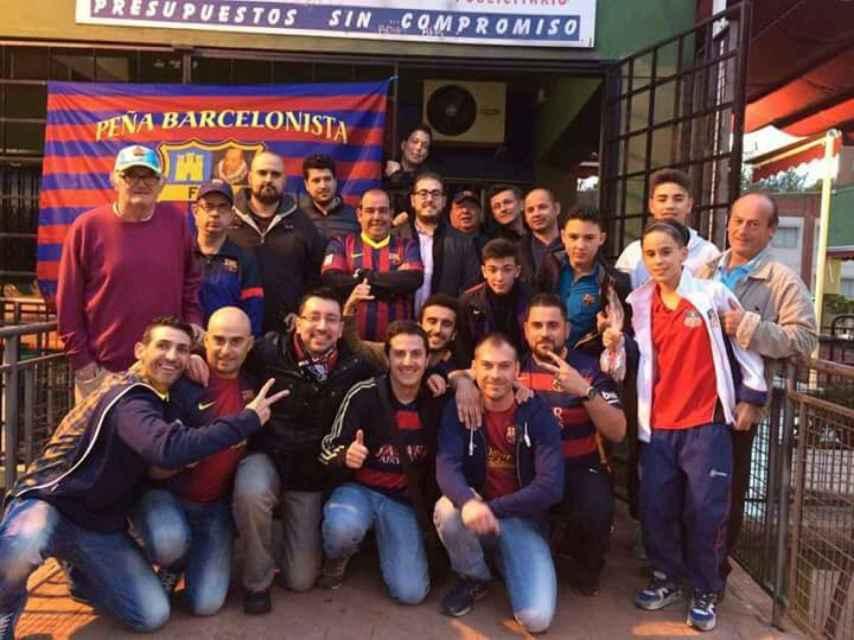 Peña Barcelonista Alcalá de Henares. Algunos de sus miembros defienden el derecho del club a sumarse a la iniciativa soberanista.