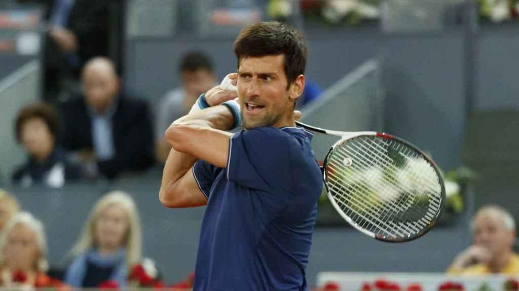 Djokovic, celebrando su victoria ante Feliciano López.