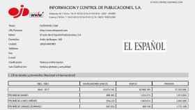 OJD certifica que El Español pulverizó su récord con 18,5 millones de lectores en abril