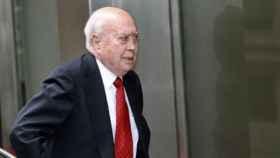 El ex tesorero del PP, Álvaro Lapuerta, a su salida de la Audiencia Nacional.