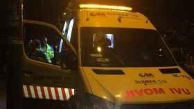 Ambulancia desplazada al lugar de los hechos.