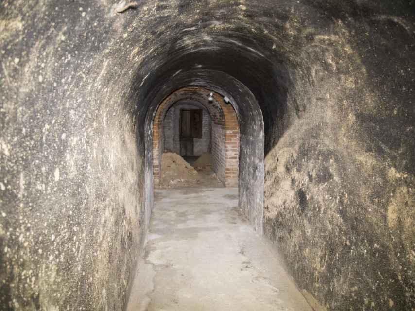 Una de las galerías del subterráneo.