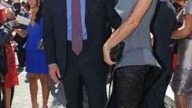 Alejandra Osborne junto a su marido, del que acaba de separarse.