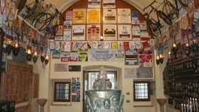 Imagen del interior de la Madonna del Ghisallo.