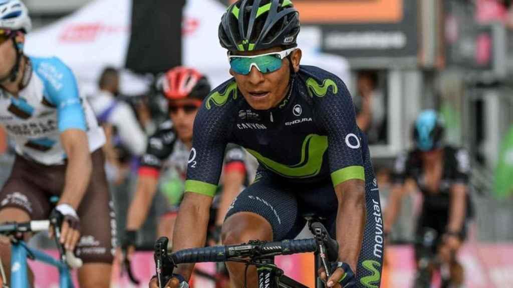 Nairo Quintana, durante una etapa del Giro.