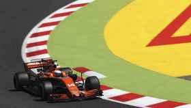 Fernando Alonso durante el GP de España.
