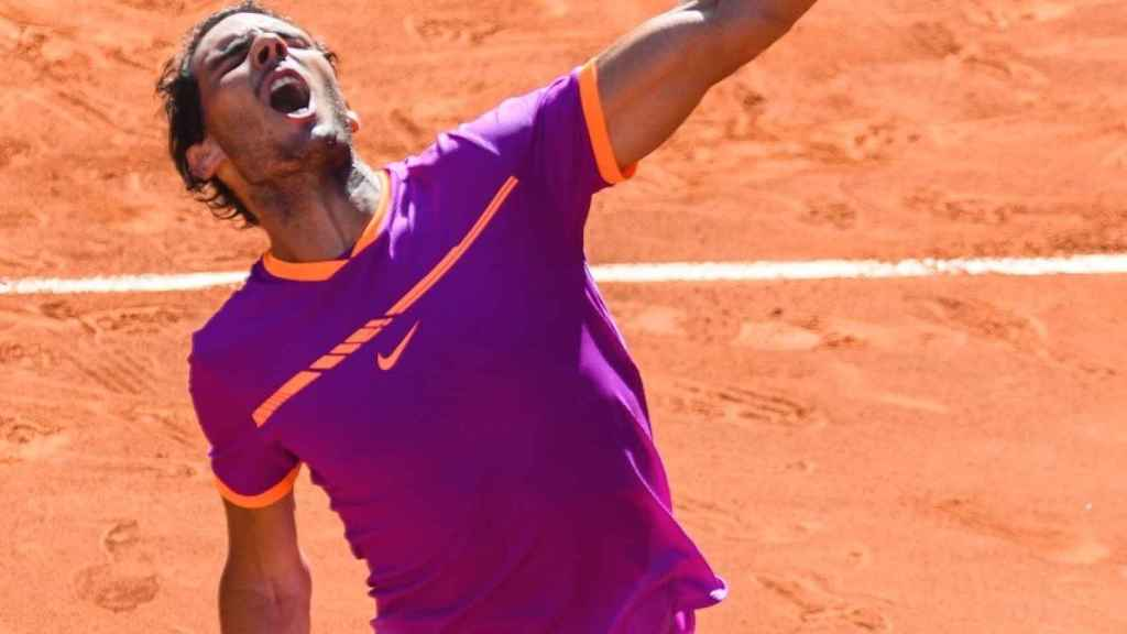 Nadal, tras ganar a Djokovic en Madrid.