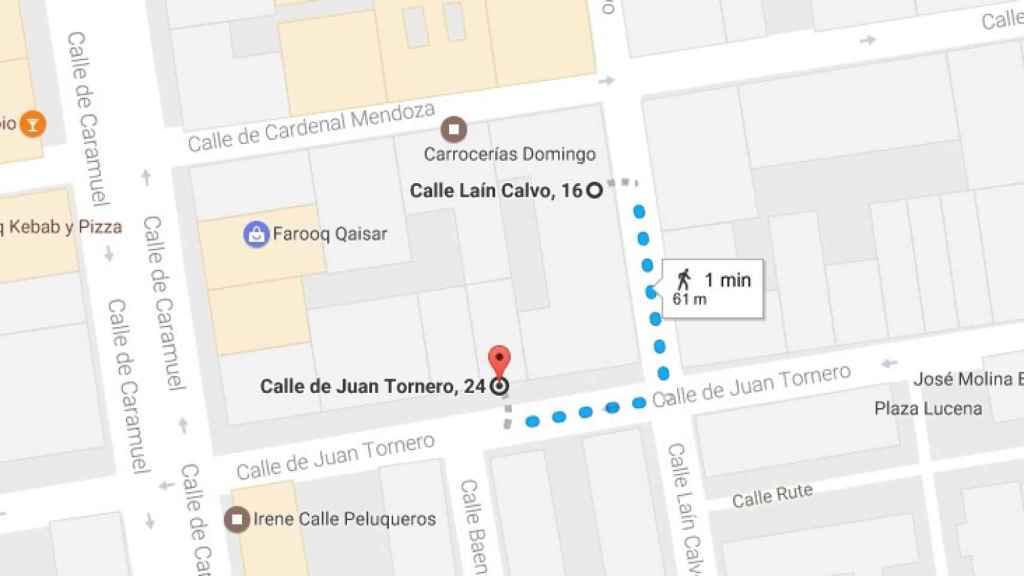 El recorrido que hizo Francisco Javier Martín Sáez antes de caer desplomado.