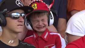 Las emotivas lágrimas del niño que quiere ser Raikkonen
