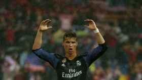 Cristiano Ronaldo celebra el pase a la final de la Champions.