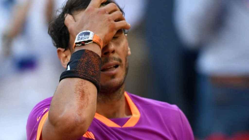 Nadal, tras derrotar a Thiem en Madrid.