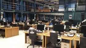 Redacción vacía de El Periódico durante la huelga del 15 mayo de 2017.