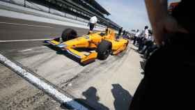 Fernando Alonso, en Indianápolis.