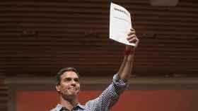Pedro Sánchez, este martes en un acto con sindicalistas en Madrid.