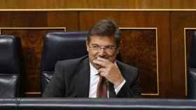 El ministro Catalá durante el debate de su reprobación.