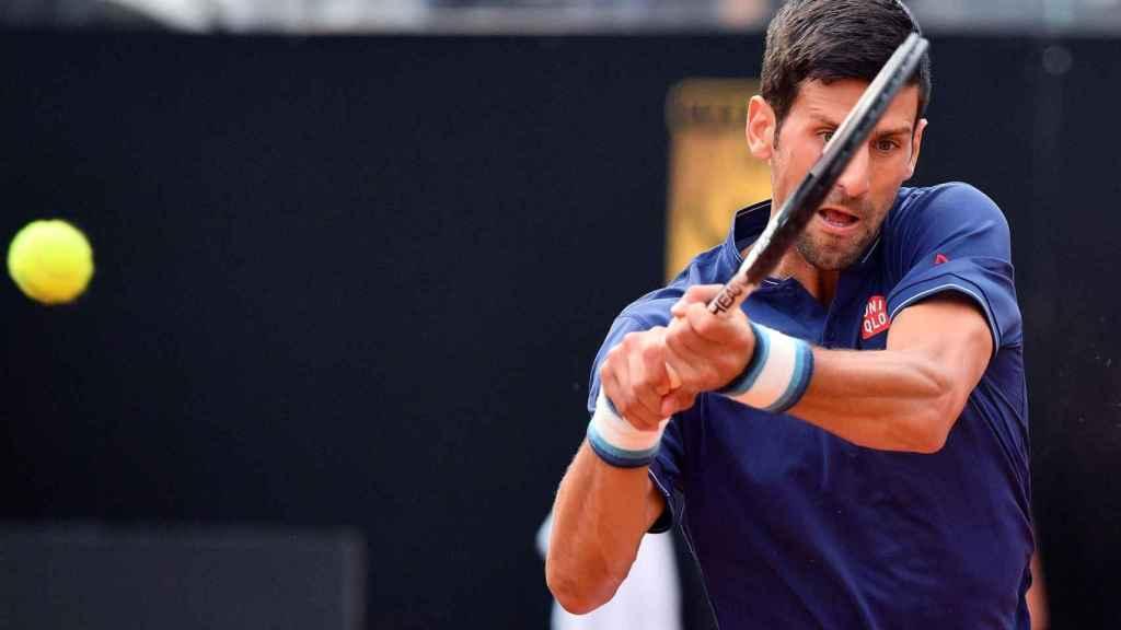 Djokovic, en su debut en el torneo de Roma.