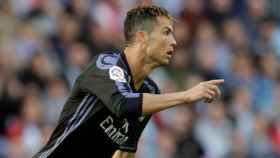 Cristiano Ronaldo celebra su gol en Balaídos.