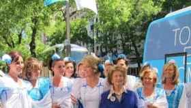 Esperanza Aguirre durante la campaña electoral de 2011.