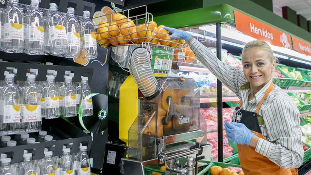 Máquina de zumo de Mercadona.