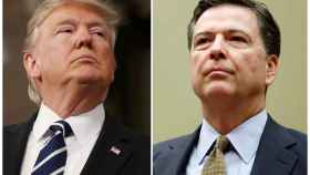 El presidente de EEUU, Donald Trump. Y James Comey, exdirector del FBI.