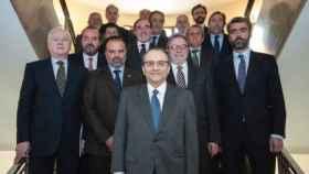 Foto de familia de los editores de prensa, en la constitución de AMI en mayo de 2017.