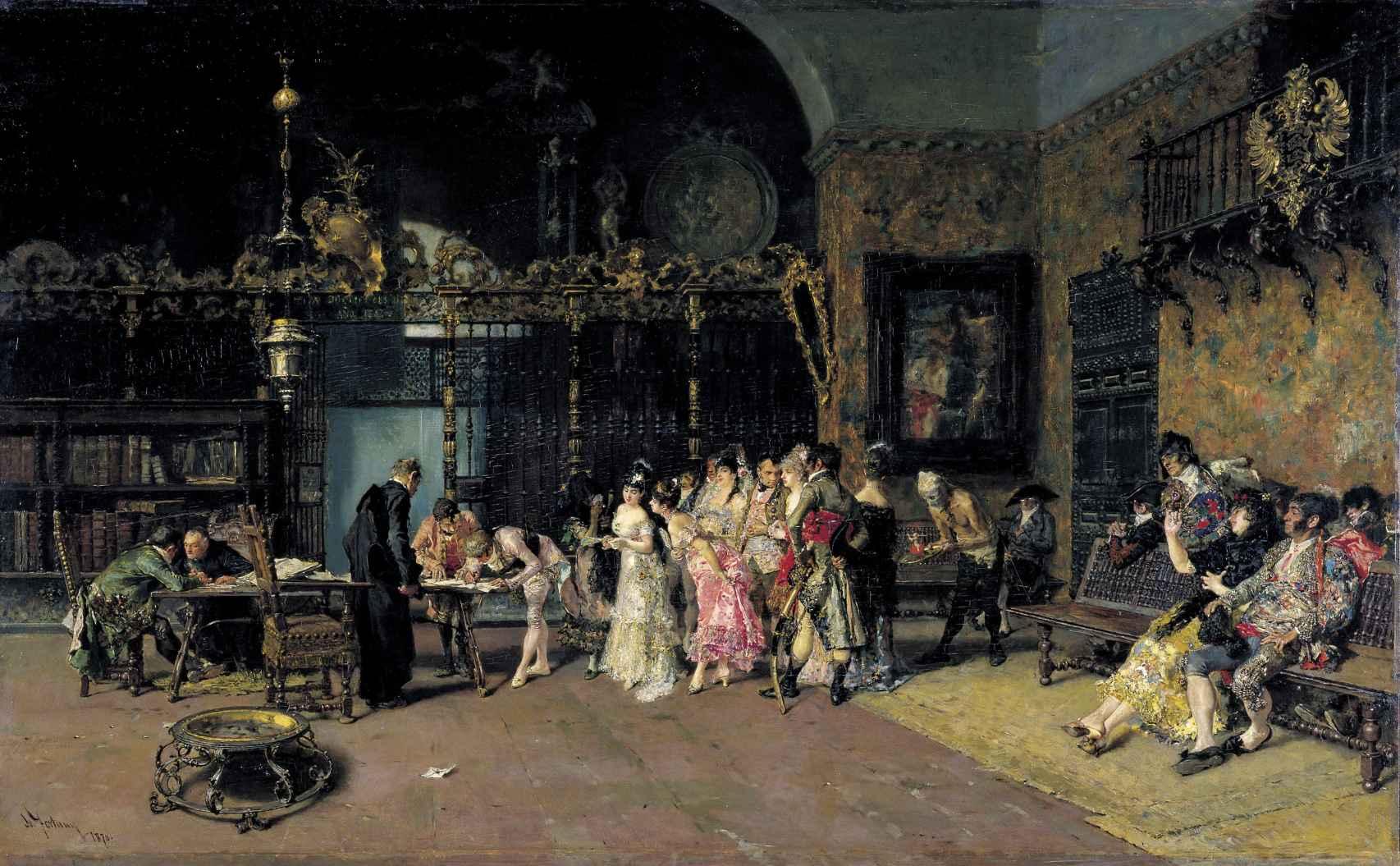 La vicaría, pintada por Fortuny en 1870, hoy en el MNAC.
