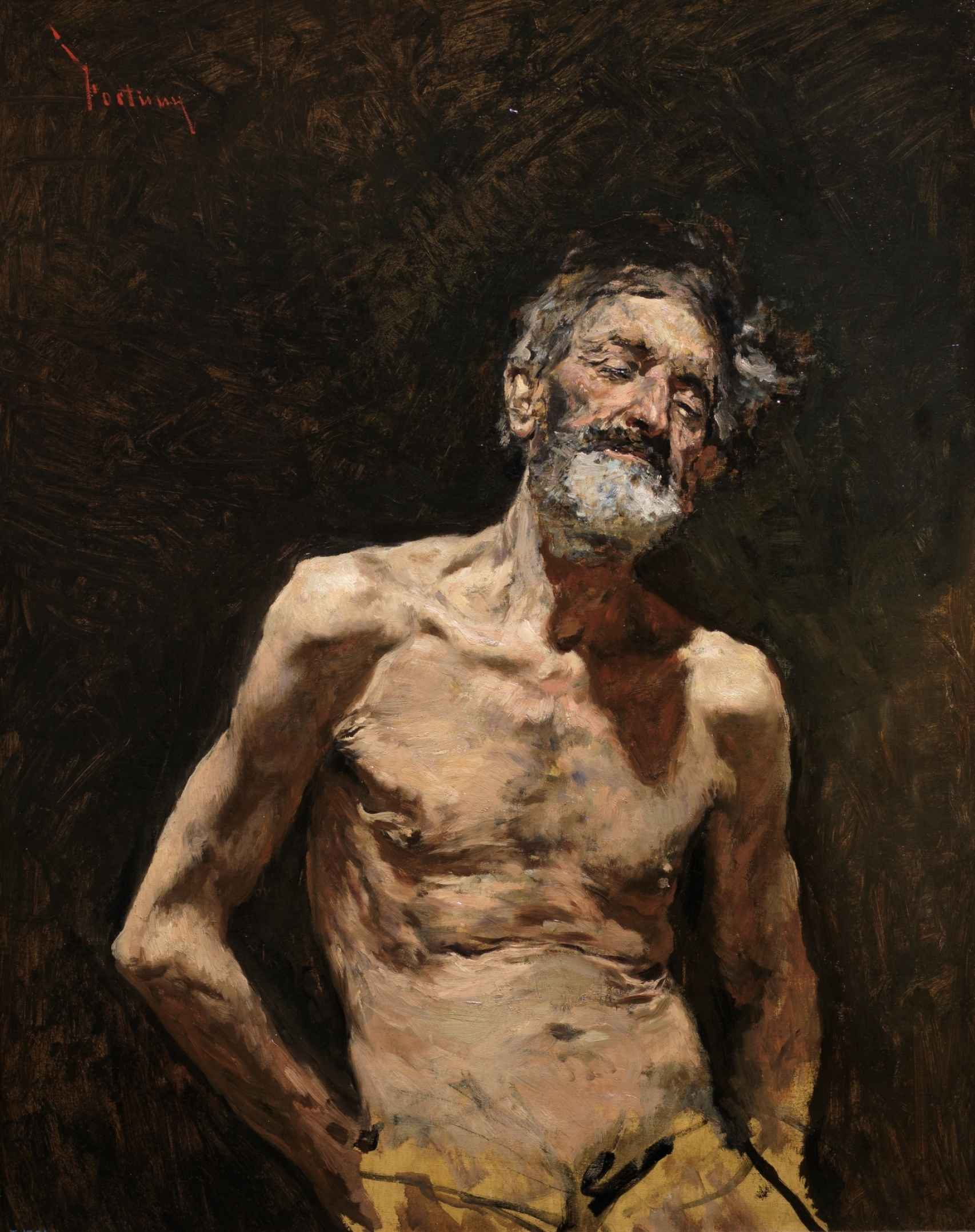 Viejo desnudo al sol, de 1871.