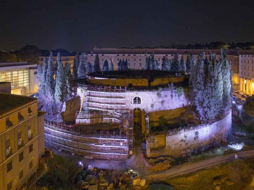 El Mausoleo de Augusto, obra restaurada gracias al mecenazgo.