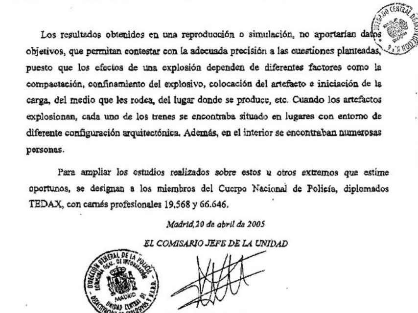 """Fragmento de la respuesta de Sánchez Manzano al requerimiento del juez: La reproducción de lo ocurrido """"no aportaría datos objetivos""""."""
