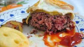 Una deliciosa hamburguesa de ternera... o no.
