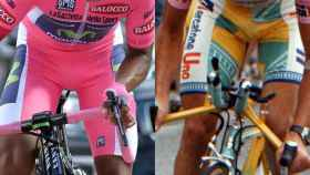 Nairo Quintana y Marco Pantani, ambos de rosa Giro.