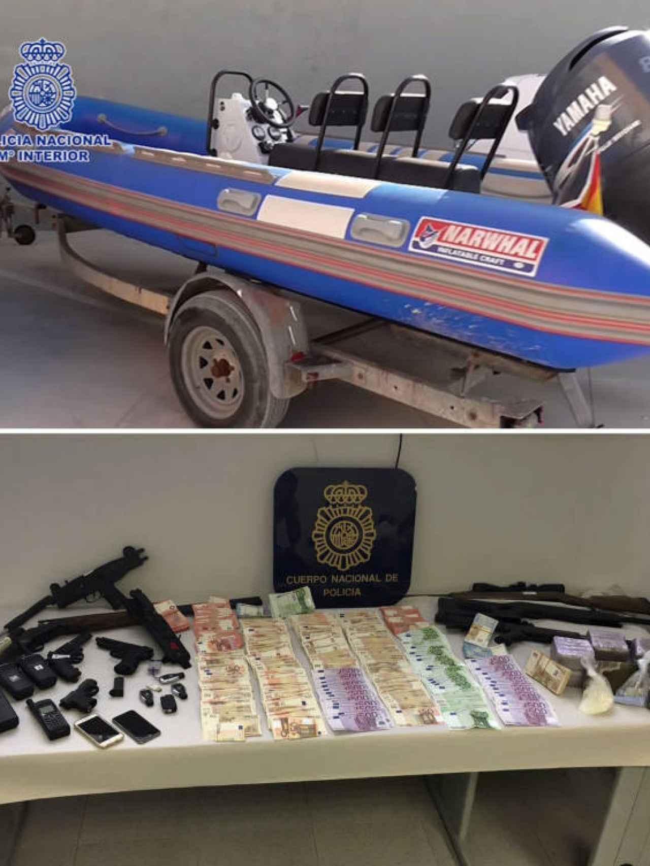 La Policía ha asestado un duro golpe a Los Castañitas, a los que les ha incautado lanchas, coches de alta gama, 352.000 euros en metálico y numerosas armas.