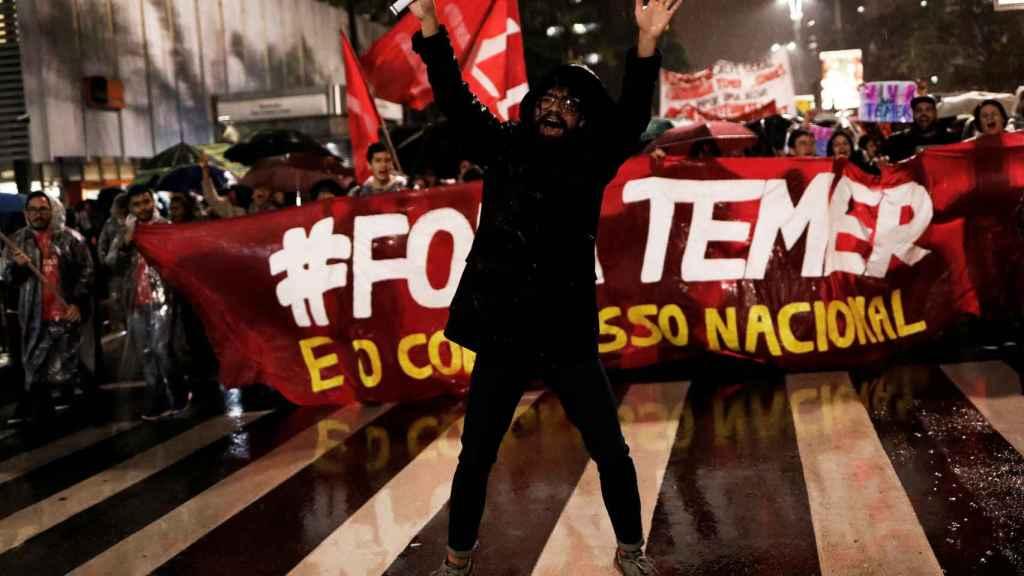 Manifestación 'antiTemer' en Sao Paulo.