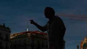 Iglesias durante su discurso en la Puerta del Sol./ Moeh Atitar