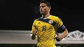 James Rodríguez, en un partido con Colombia   Foto: fcf.com.co