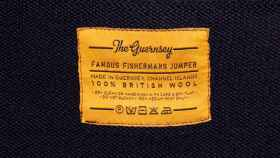 Etiqueta de la marca Guernsey.