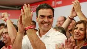 Pedro Sánchez, tras ser elegido secretario general del PSOE.
