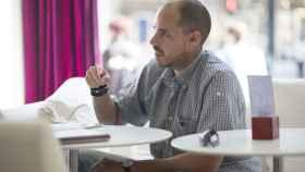 Antonio Pampliega durante la entrevista