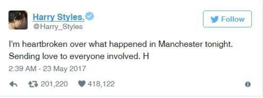Mensaje de Harry Styles.